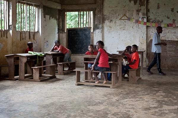 photo of schoolchildren in Equatorial Guinea