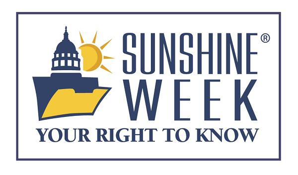 photo of sunshine week logo - 'your right to  know'