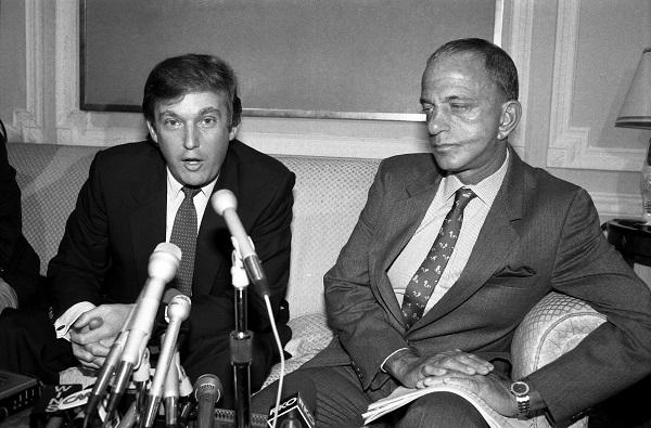 photo of Donald Trump and Roy Cohn