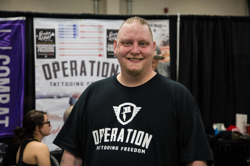 NAvy vet Lewis Hunt founded Operation Tattooing Freedom.