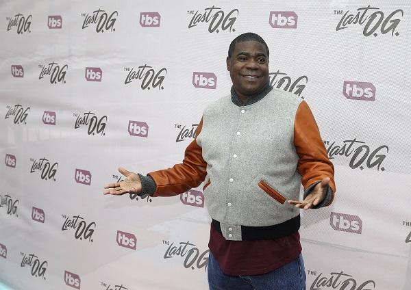 photo of tracy morgan against a 'the last o.g.' banner backdrop
