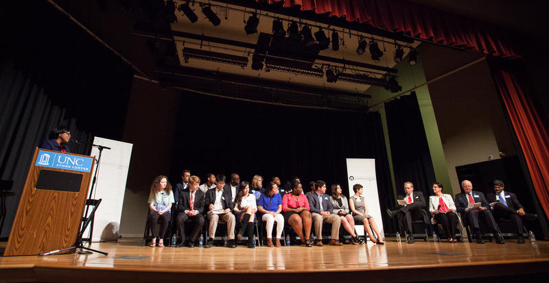 The student led reverse town hall at UNC Chapel Hill