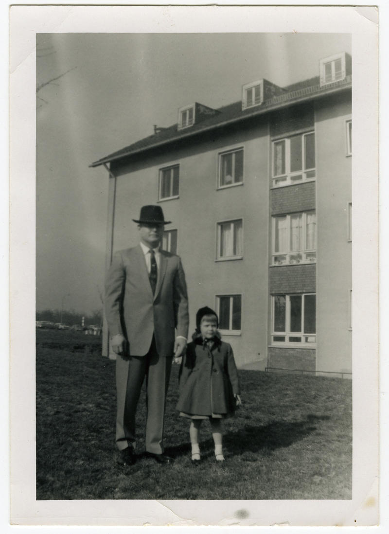 Debbie Crain as a child with her father.