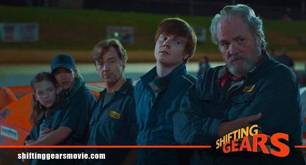 photo of 5 actors in nascar-type coveralls