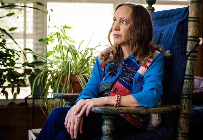 """Julia Harris, pictured at her home near Brevard, N.C., said she was struck with one thought when she arrived at Recovery Connections last year for help with an alcohol problem: """"I have landed in an insane asylum."""""""