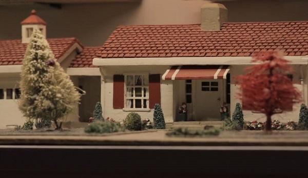 photo of a miniature model ranch style home