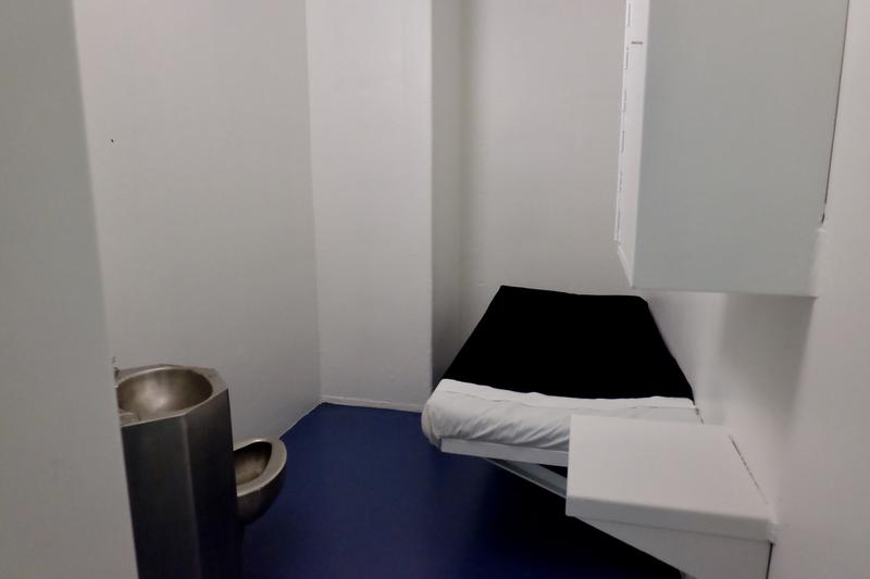 The inside of a cell at central prison.