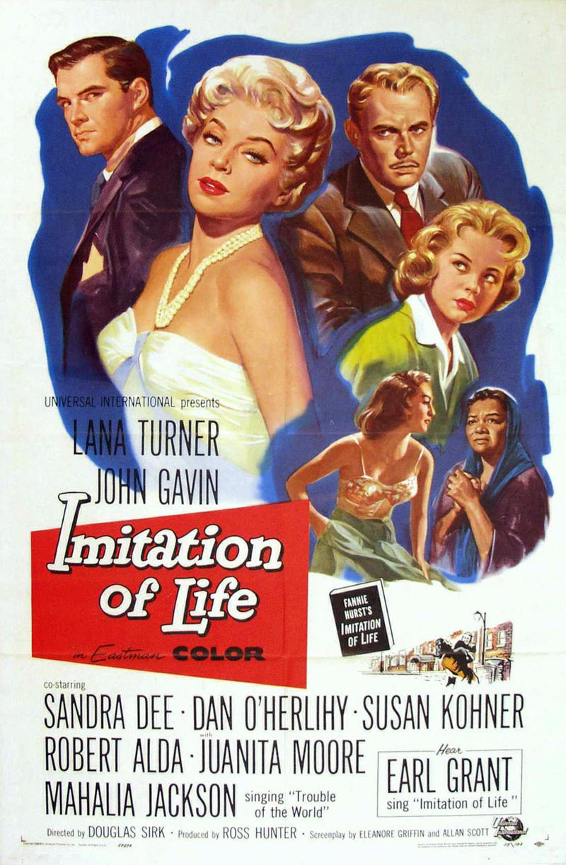 A promotional poster for the 1959 Douglas Sirk film 'Imitation of Life'