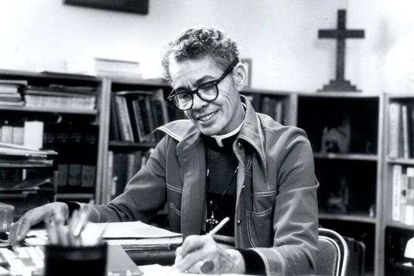 photo of pauli murray in her later years in priest's attire