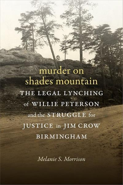 book cover for 'murder on shades mountain,' picturing a dirt road