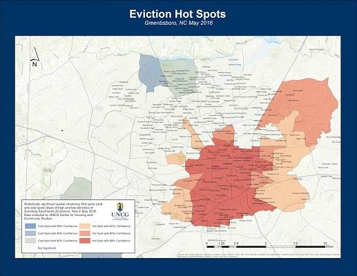 map of eviction hot spots in greensboro
