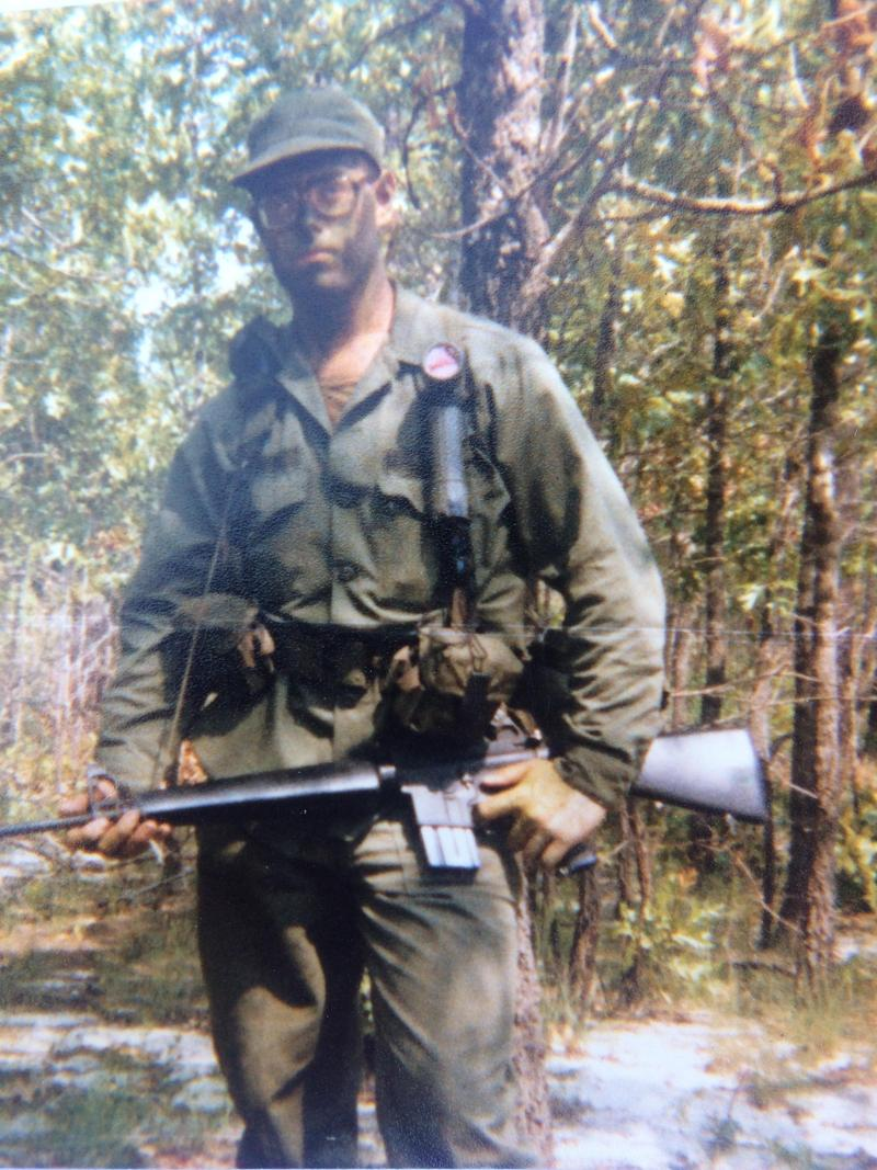 David Goforth training at Fort Bragg in 1980.