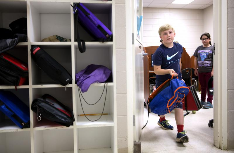 Eight-year-old Chandler White, who struggles with dyslexia, attends The Piedmont School, a non-profit specializing in teaching students with learning disabilities.