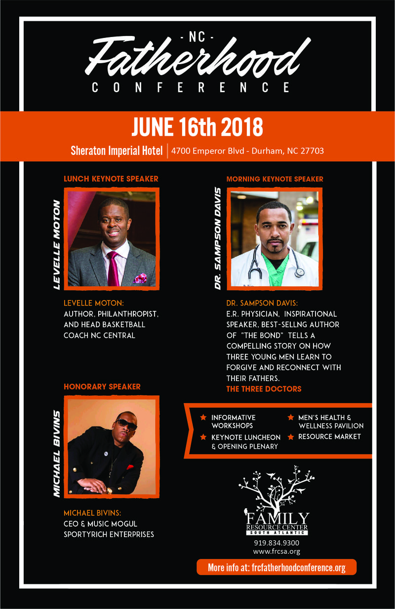 Celebrating its 6th year, the North Carolina Fatherhood conference gathers men for panels, discussions and workshops geared at bonding fathers with their children and families.