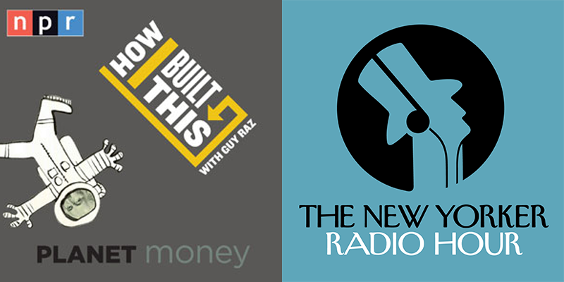 Planet Money How I Built This & The New Yorker Radio Logos