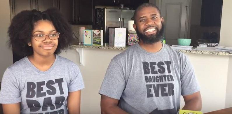 a photo of Nyla McFadden and Dion Chavis wearing matching t-shirts