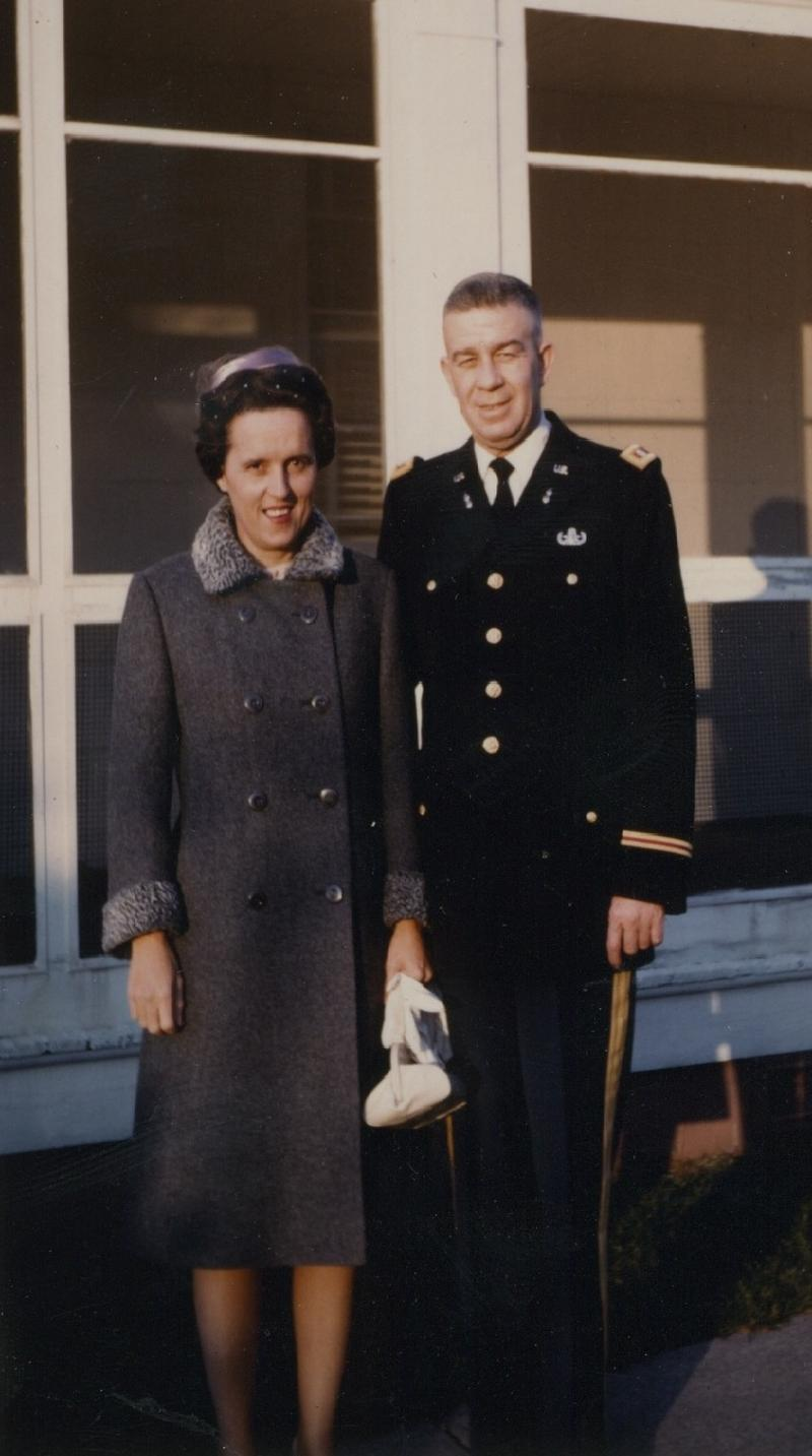 Lieutenant Colonel Frank Miller with his wife, Florence Miller