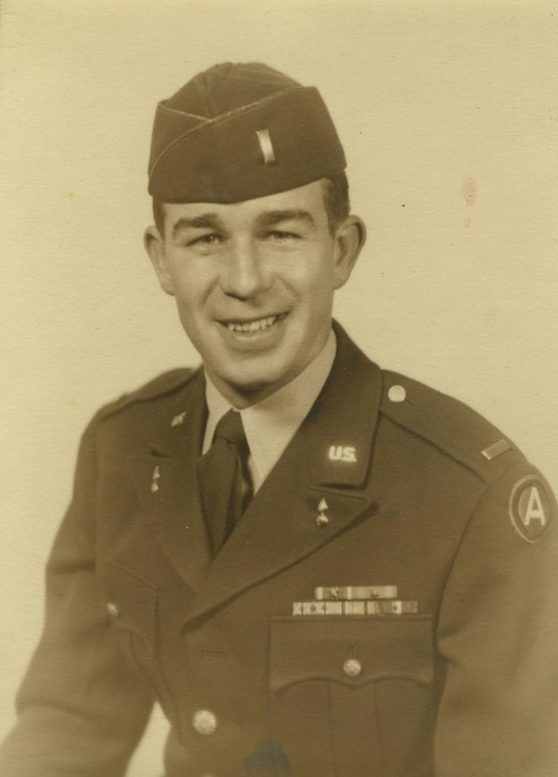 A portrait of Frank Miller from his time in the Army.