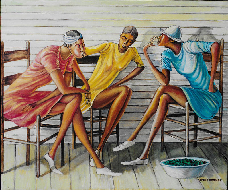'Porch Ladies' by Ernie Barnes