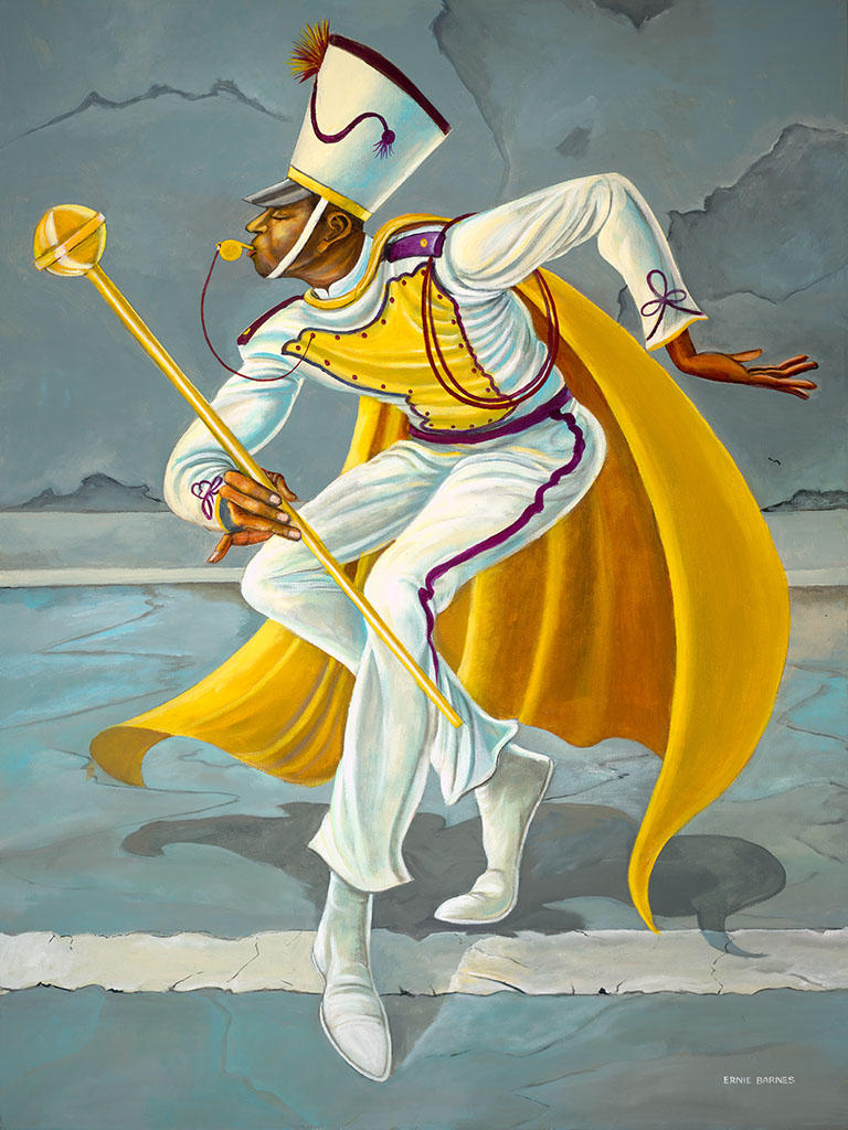 'The Drum Major' by Ernie Barnes