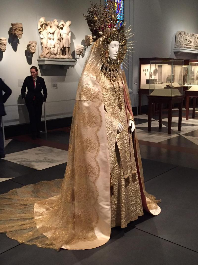 Yves Saint Laurent, Statuary vestment for the Virgin of El Rocco, ca. 1985