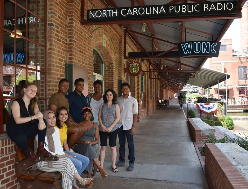 WUNC's 2018 Youth Reporting Institute students.