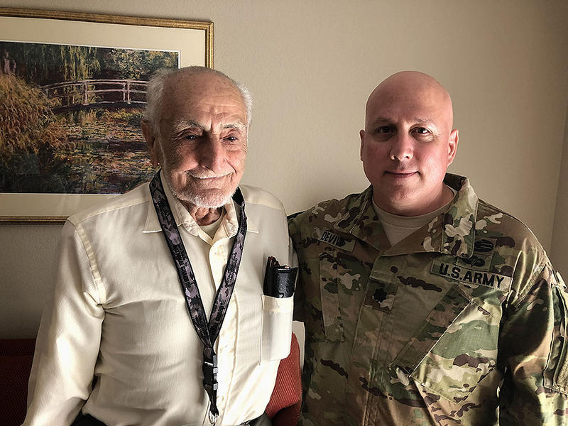 Tony Jaber, now 93, was part of the 30th Infantry Division, nicknamed Old Hickory, which was sent into Normandy right after D-Day. It soon found itself badly outnumbered by some of Germany's toughest units in a battle at the small French town of Mortain.