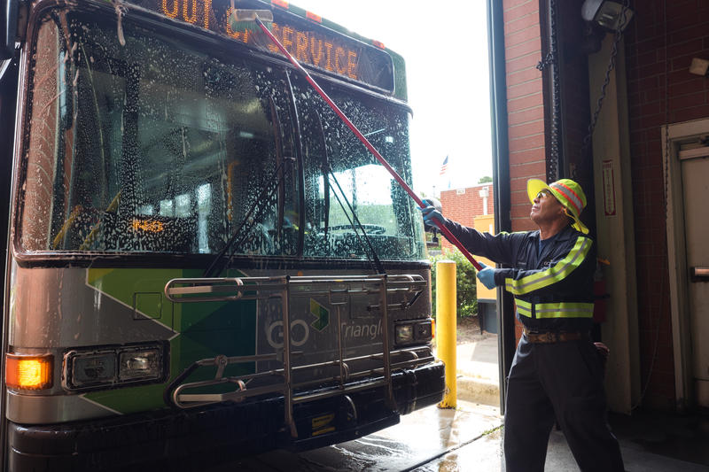 Public transit systems, including GoTriangle, will see a funding cut from the state.