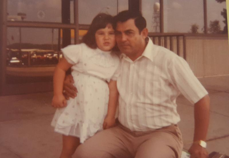 Joanna and her father, 1986