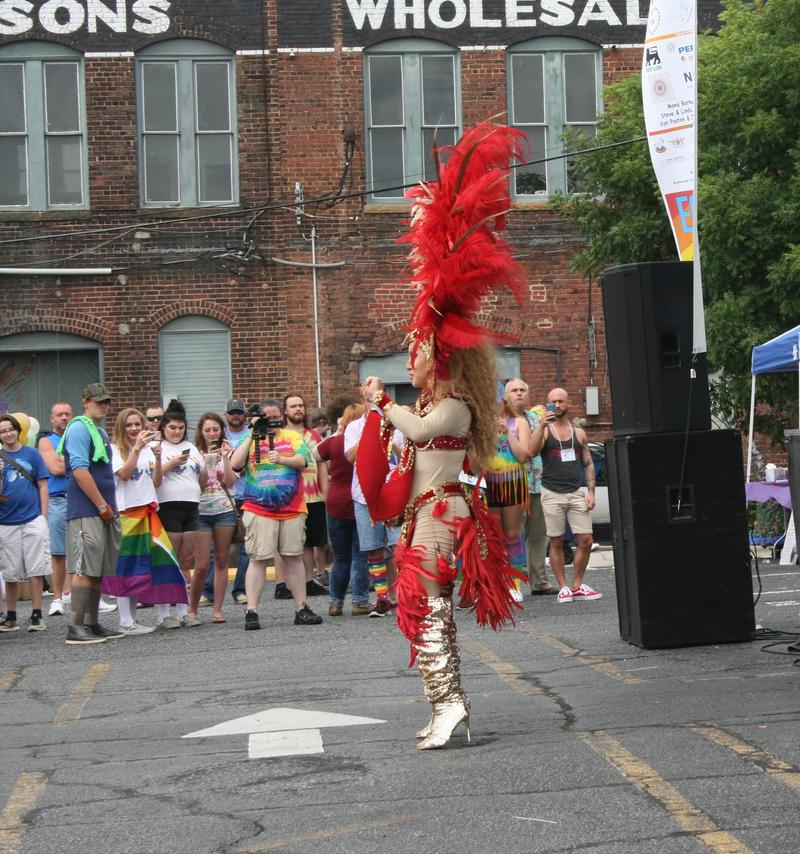 Jayden Starr performs at the 2018 Salisbury Pride.