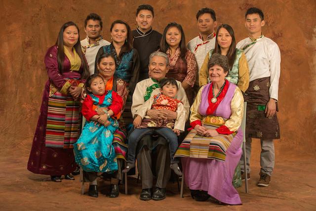 Madeline Uraneck and Tenzin Kalsang's family