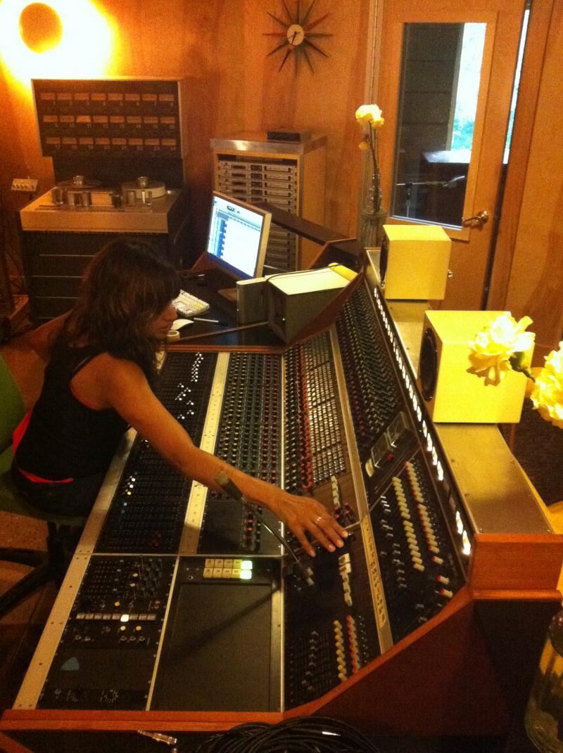 Kumar in the Fidelitorium studio in Kernersville, NC in 2012.