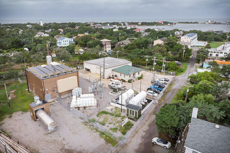 An overhead view of the Ocracoke microgrid.