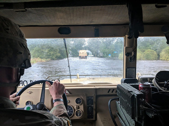 The North Carolina National Guard was deployed to help in the fight against Florence.