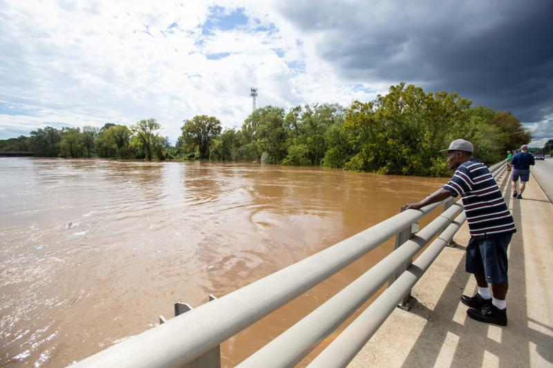 The Cape Fear river continued to rise due to rainfall Hurricane Florence