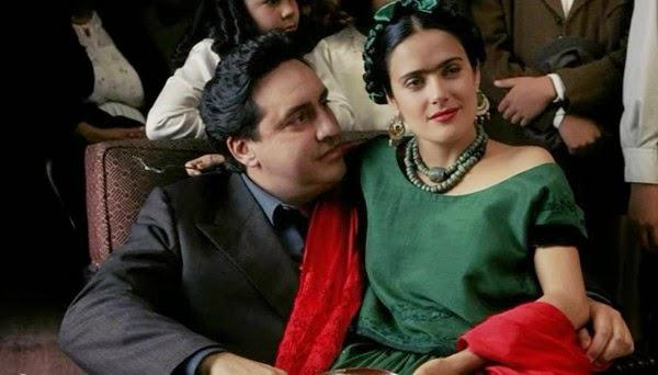 Alfred Molina and Salma Hayek star as Diego Rivera and Frida Kahlo in Frida (2002), one of our listener's picks for best fine art film.