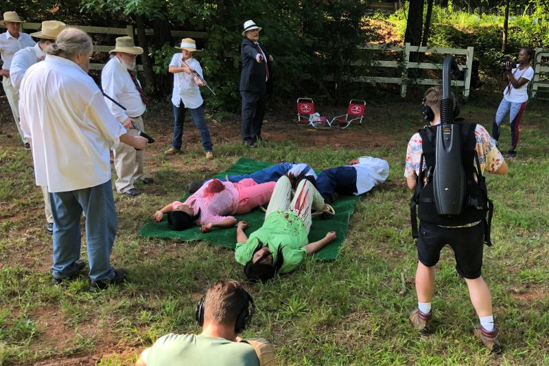 Actors reenact a 1946 lynching in Walton County, Ga. in which a veteran, his wife, and another couple were killed. The reenactment is an annual event staged by actors and civil rights activists.