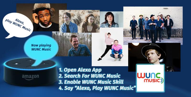 WUNC Music Alexa Banner