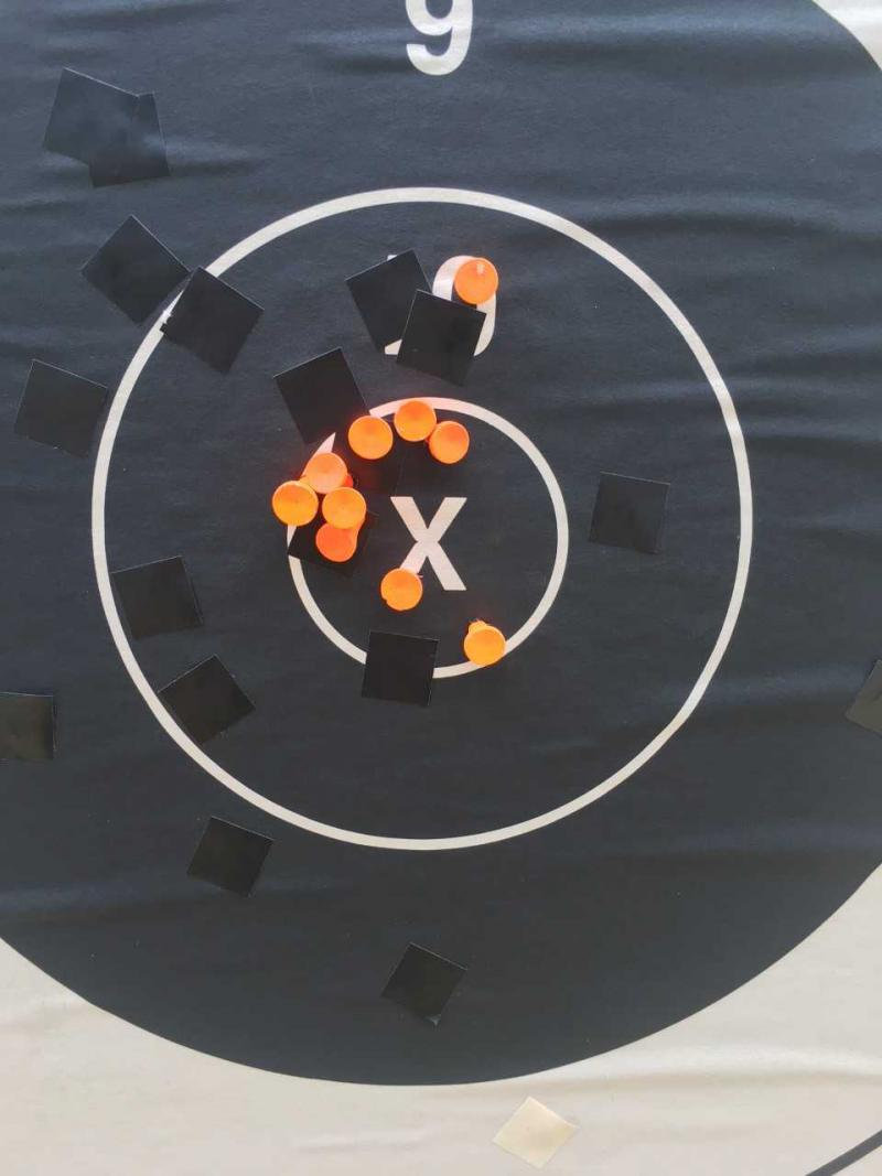Spc. Wannemacher's target from the President's Hundred Match at Camp Perry, Ohio, July 29, 2018.