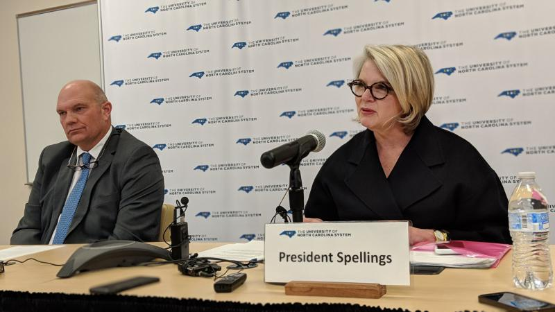 UNC System President Margaret Spellings has resigned as president of the University of North Carolina.