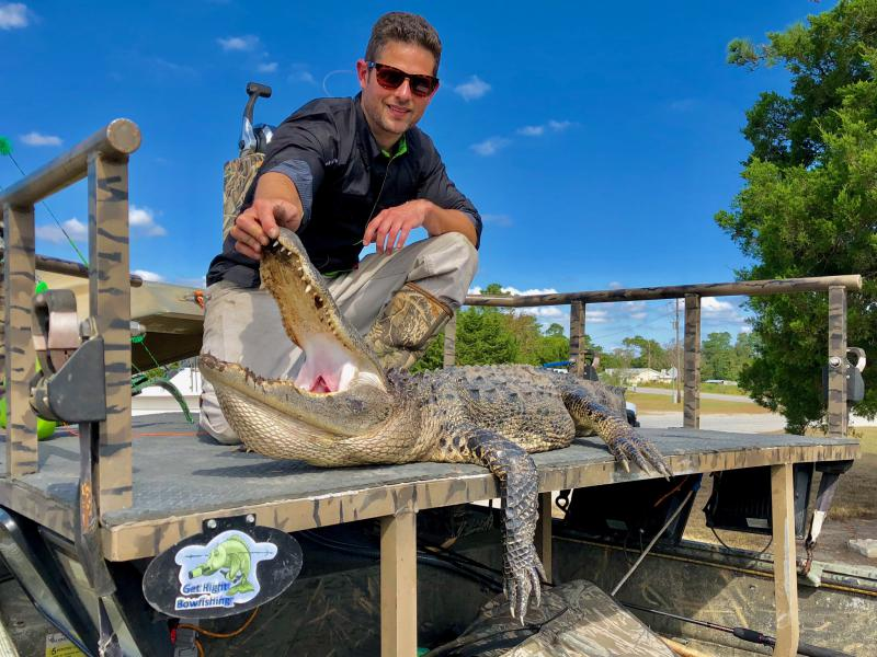 The alligator caught and killed on the second-to-last day of the 2018 inaugural alligator hunting season.
