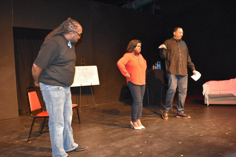 Photo of a performance of Black Poetry Theatre