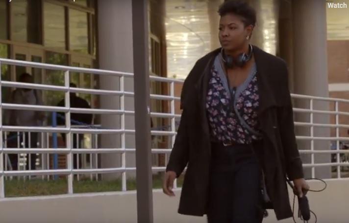 Screengrab of  Youth Radio video on North Carolina gerrymandering.