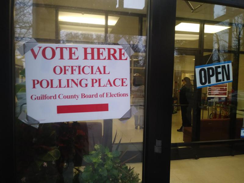 The entrance of the Brown Recreation Center in Greensboro as voters prepared to cast a ballot in this year's Midterm Elections.