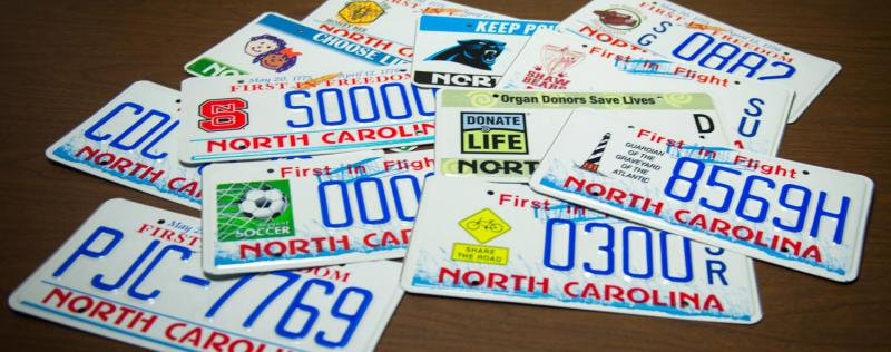 Specialty license plates are becoming more common in North Carolina.