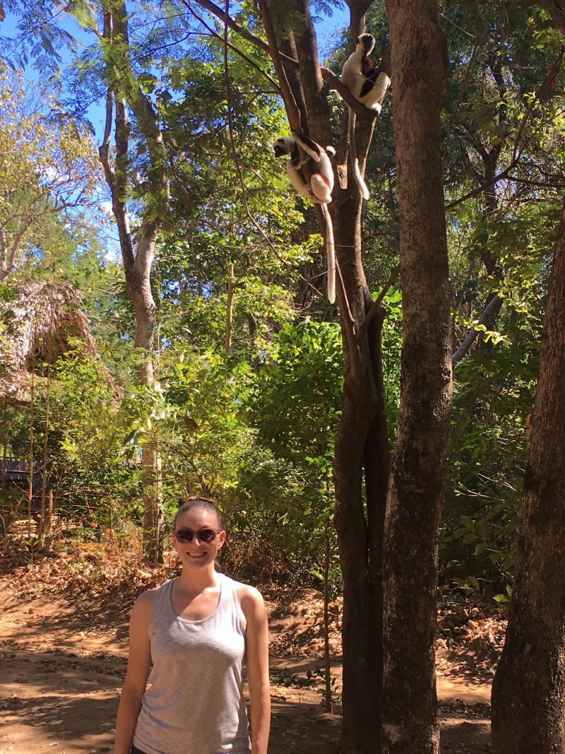 Duke Lemur Center researcher Lydia Greene