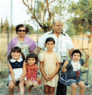 Photo of Phaedra with her cousins and grandparents in Greece.