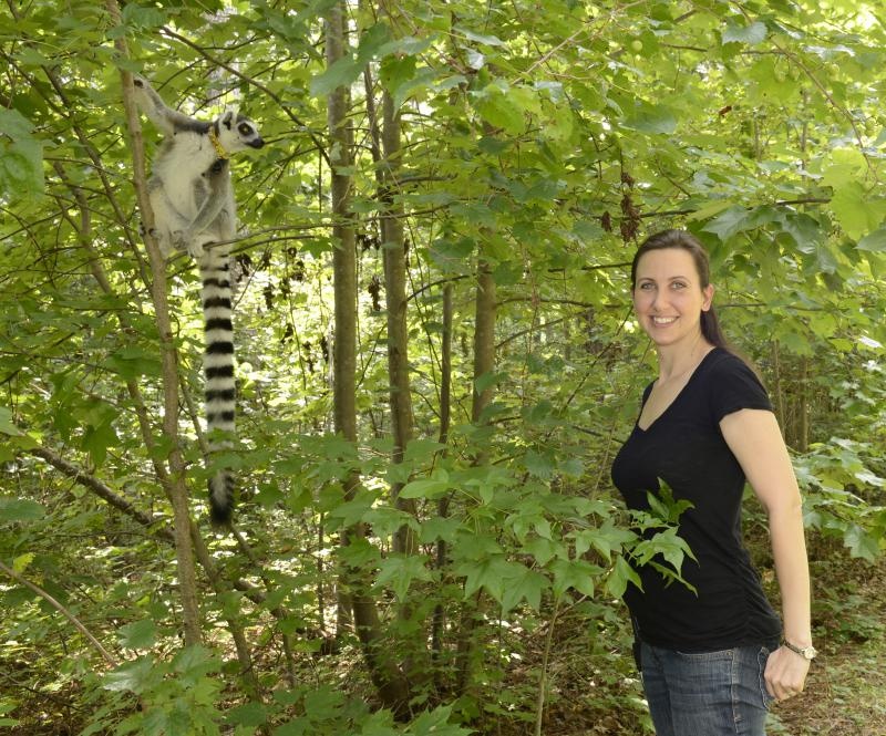 Erin Ehmke, director of research at the Duke Lemur Center