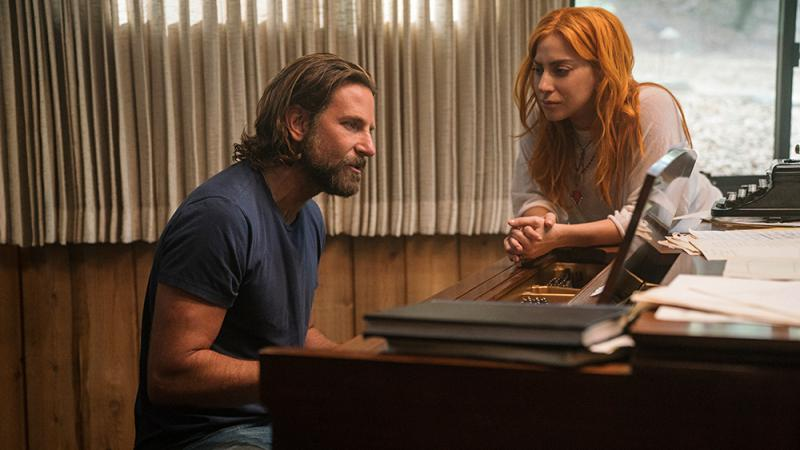 Bradley Cooper and Lady Gaga share an intimate onscreen moment in 'A Star is Born,' the fourth remake of a 1937 original film.