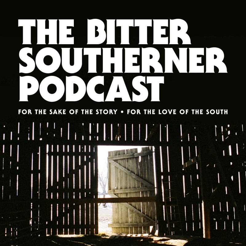 Graphic for the podcast showing light coming through the wooden slats of a barn